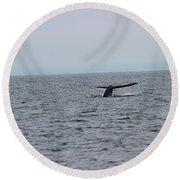 Whale Tail 2 Round Beach Towel