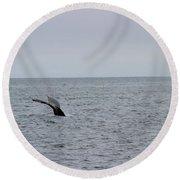 Whale Tail 8 Round Beach Towel
