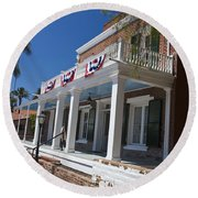 Whaley House Old Town San Diego Round Beach Towel
