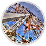 Wharf Wheel Round Beach Towel