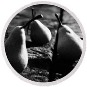 What A Lovely Pear Round Beach Towel