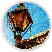 What A Party Painted Round Beach Towel