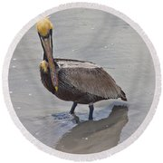 What Are You Lookin At Round Beach Towel