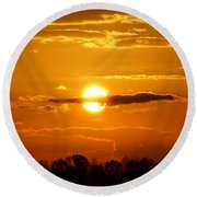 What Do You See Sunset Round Beach Towel