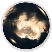 What Holds The Sky Up Under The Wind Round Beach Towel