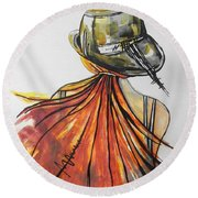 What Lies Ahead Series  I Found Me Round Beach Towel