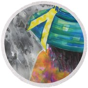What Lies Ahead Series....chaos  Round Beach Towel by Chrisann Ellis