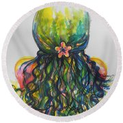 What Lies Ahead Series...tangled Up Round Beach Towel
