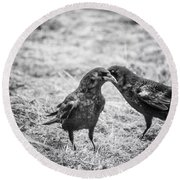 What The Raven Said Round Beach Towel by Susan Capuano