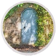 What's Behind The Gate? 2 Round Beach Towel