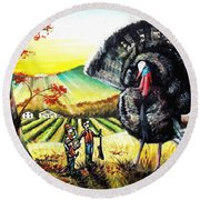 Whats For Dinner? Round Beach Towel