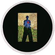 What's In Your Heart ? Round Beach Towel