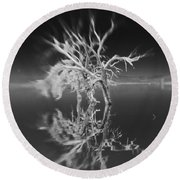Whats Left Black And White Round Beach Towel