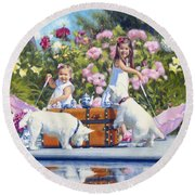 Whats Your Cup Of Tea Round Beach Towel