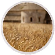 Wheat At The Abbaye Round Beach Towel