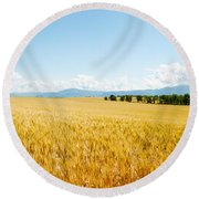 Wheat Field Near D8, Brunet, Plateau De Round Beach Towel