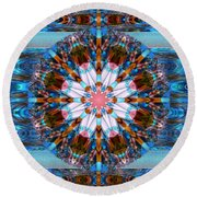 Wheel Kaleidoscope Round Beach Towel