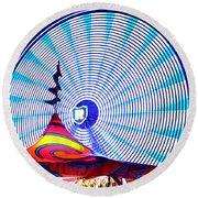 Wheel Of Light Work B Round Beach Towel