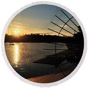 Wheel Of The Sun Round Beach Towel