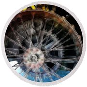 Wheels Round Beach Towel