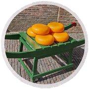 Wheels Of Dutch Gouda Cheese Round Beach Towel