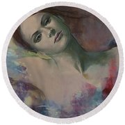 When A Dream Has Colored Wings Round Beach Towel by Dorina  Costras