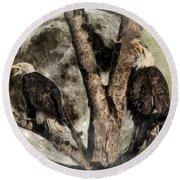 When Eagles Sing Round Beach Towel