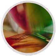 When Soul Meets Body Round Beach Towel