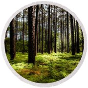When The Forest Beckons Round Beach Towel