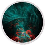 When The Smoke Clears They Bloom Round Beach Towel