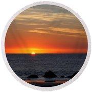 When The Sun Goes Down Round Beach Towel