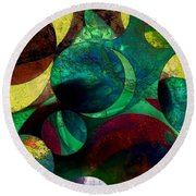 When Worlds Collide Round Beach Towel