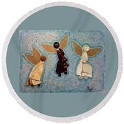Where All Is Peace And Joy And Love Round Beach Towel