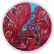 Where Broken Hearts Go Round Beach Towel