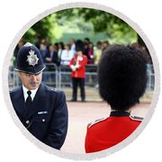 Where Can I Get A Uniform Like That Round Beach Towel by James Brunker