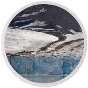 Where Glaciers Meet Round Beach Towel
