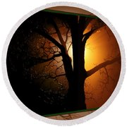 Where Have All The Flowers Gone-featured In Harmony And Happiness-naturephoto-visions Of The Night  Round Beach Towel