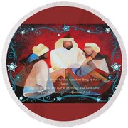 Where Is The Child Who Has Been Born King Of The Jews Round Beach Towel