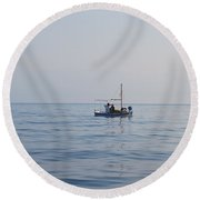 Where Is The Fish? Round Beach Towel