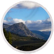 Where The Valley Leads Round Beach Towel