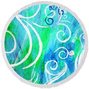 Whimsical By Jan Marvin Round Beach Towel