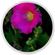 Whimsical Delight Round Beach Towel