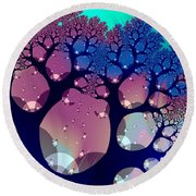 Whimsical Forest Round Beach Towel