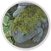 Whimsical Frog Round Beach Towel
