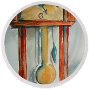 Whimsical Time Piece Round Beach Towel
