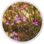 Whirling Butterfly Bush Round Beach Towel
