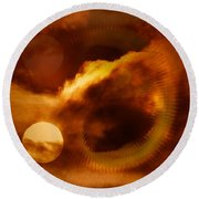Whirling In The Clouds Round Beach Towel