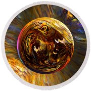 Whirling Wood  Round Beach Towel