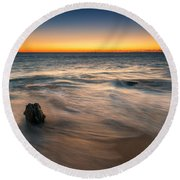 Whisper Of The Waves  Round Beach Towel