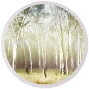 Whisper The Trees Round Beach Towel by Holly Kempe